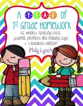 A Year of 1st Grade Homework - Lucky to Be in First