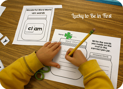 Word Up! 20 Wonderful Word Work Mats for Short Vowels - Lucky to Be in First