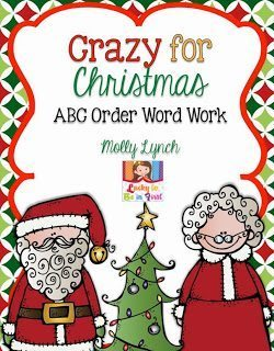 Crazy for Christmas  - ABC Order Word Work FREE | Lucky to Be in First