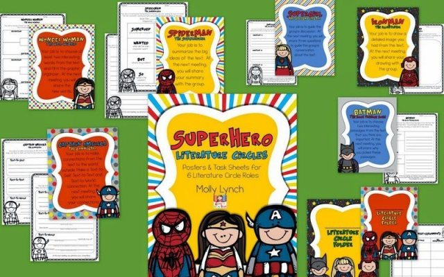 Superhero Literature Circles by Lucky to Be in First