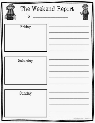 The Weekend Report Free Writing Idea! | Lucky to Be in First