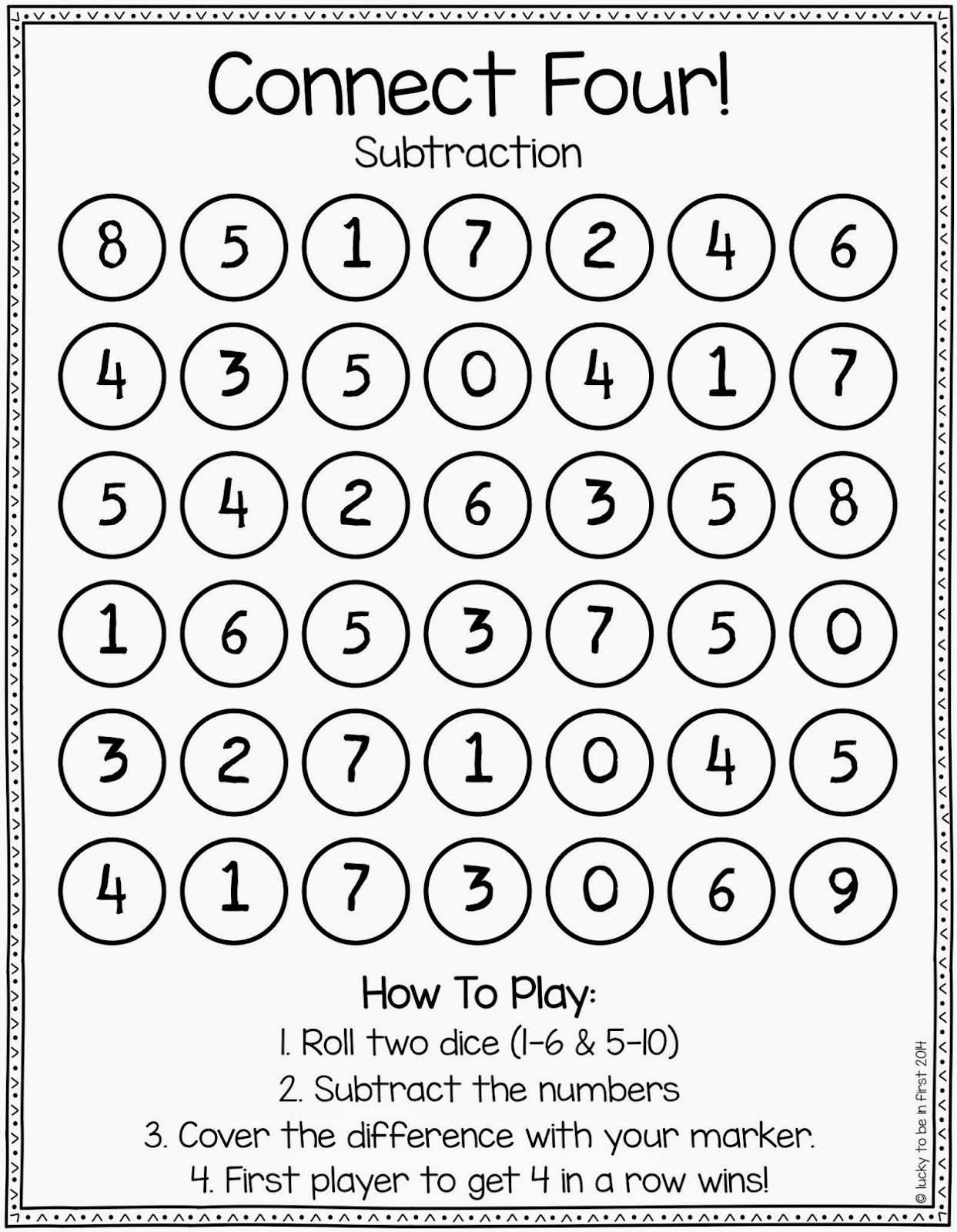 picture about Printable Math Dice Games called math game titles galore Archives Fortunate Toward Be Within just Very first