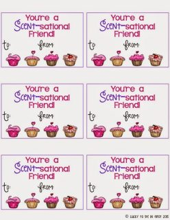 You're a Scent-sational Friend Smencil Valentine Tag Lucky to Be in First