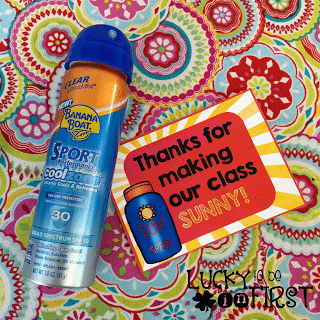 Thanks for making our class Sunny Parent Gift FREEBIE | Lucky to Be in First Freebie