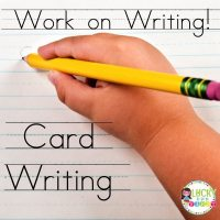 Work on Writing Daily 5 Freebie Lucky to Be in First Card Writing
