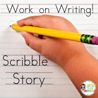 Work on Writing Daily 5 Lucky to Be in First Scribble Story
