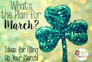 What's the Plan for March Blog Lucky to Be in First