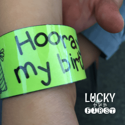 Brag Bracelets Birthday Lucky to Be in First