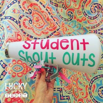 Student Shout Out Megaphone Lucky to Be in First