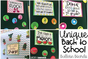 Unique Back to School Bulletin Boards