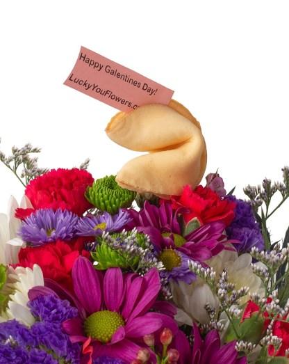Lucky You Flowers XO Valentines Arrangement