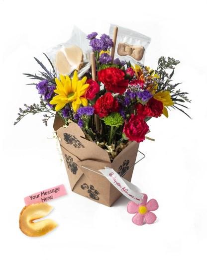 Bow Wow Lucky You Flower arrangement