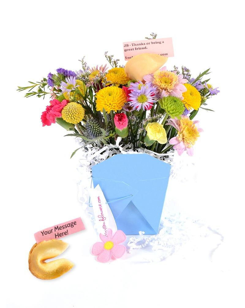 True Blue Lucky You Flowers