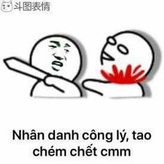 Nhân danh công lý, tao chém chết cmm – Baozou Manhua meme – Meme Gấu trúc Trung Quốc
