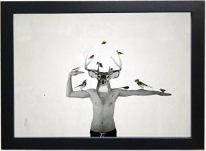 L'oiseleur déployée / Luc Pallegoix, 2014. Encre pigmentaire sur papier Moab blanc 300 gr. Moyen format | 21 x 29,7 cm 1/10 ex. |