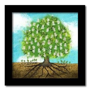 [ VENDU moyen format 1/10 ] Un arbre – Strophe 2 / Luc Pallegoix, 2014. Tirage d'art, encre pigmentaire sur papier Moab blanc 300 gr. Disponible en moyen format | 23 x 23 cm 10 ex. |