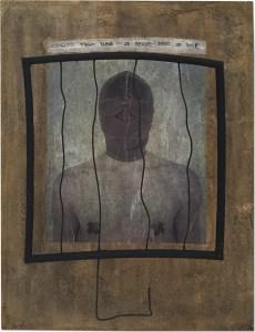 Cogito ergo slave / Luc Pallegoix, 2016. acrylique sur bois et médium mixtes. 30 x 40 cm