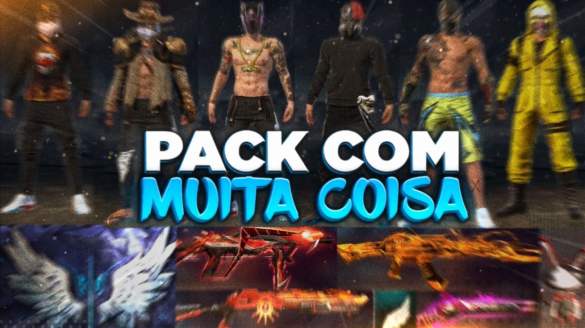 PEGA RANK! Pack de Textura para FreeFire (Emotes,Armas,Gelo,Skins)!