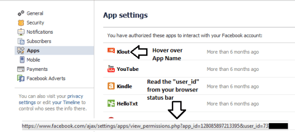 Graphic showing how to find your Facebook ID