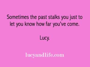 stalking past