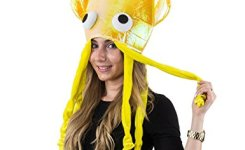 Yellow Hat Yellow Squid Hat Octopus Hat Funny Hats Sea Animal Hats