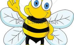Funny Bee Cartoon Character Csp
