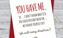 Boyfriend Card Funny Christmas Card Christmas Card Xmas Card Quirky Snarky Greeting Card Just For