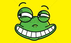 Frog With Funny Face Expression Vector Graphic