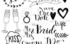 Download Hand Drawn Wedding Doodle Icons Stock Vector Il Ration Of Collection Banner
