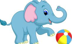 Download Cute Baby Elephant Cartoon Stock Il Ration Il Ration Of Friendly