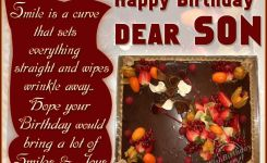 Birthday Quotes For Son Wishing Many Happy Returns To A Pleasent Son Wishbirthday