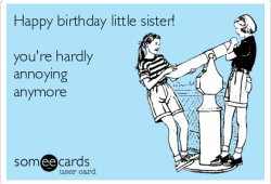 Funny Happy Birthday Little Sister Images