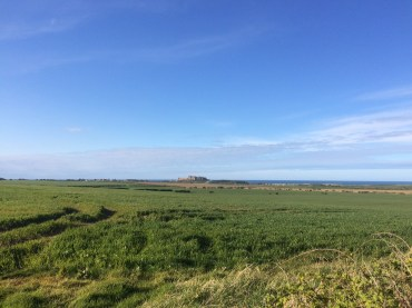 Running in the shows of Bamburgh Castle