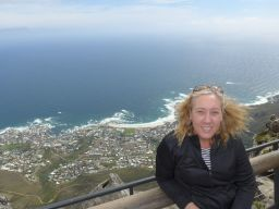 Windy on top of Table Mountain