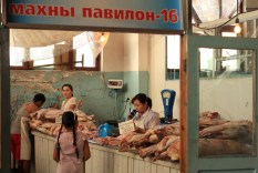 Butcher shop, Naran Tuul 'Black' market, Ulaanbaatar