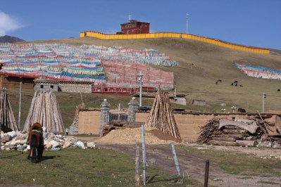 Prayer flags, Manigango, NW Sichuan