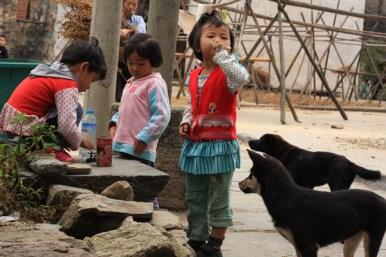 Children playing, Da Likeng, Jiangxi