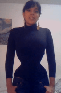 My front-lacing Bezerk cincher - from my very first Youtube video.