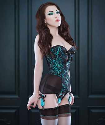 c8958323002 Morgana Femme Couture cupped overbust corset-girdle with brocade and  powermesh (from  510)