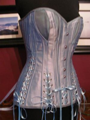 Crikey Aphrodite Corset gives access to client's Ileostomy bag
