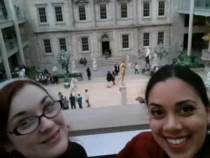 Mina and myself at the Met