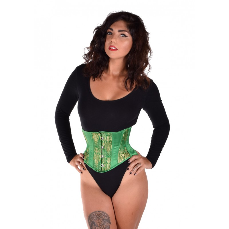 2156ea60be0 Hourglass Emerald Brocade Cincher – Lucy s Corsetry
