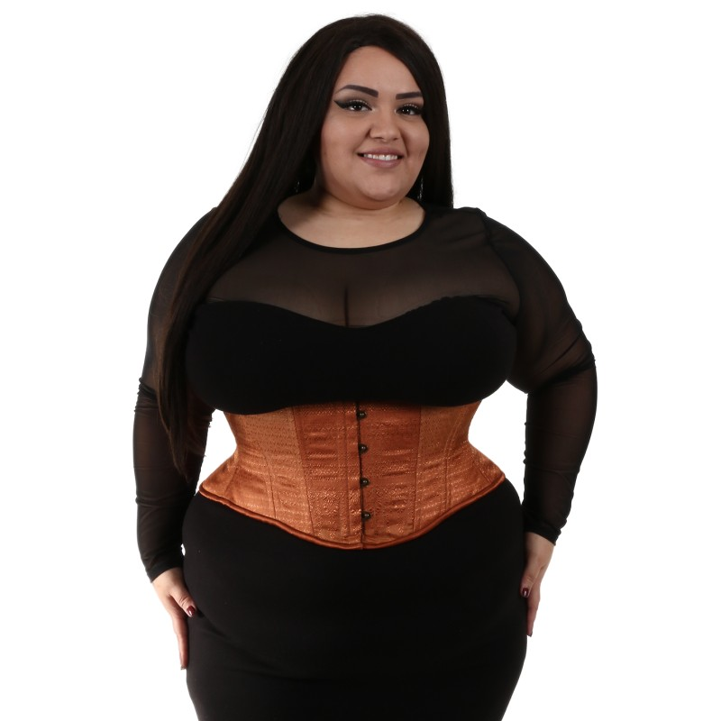 b5db00e0e99 Hourglass Brown Shimmer Brocade Cincher – Lucy s Corsetry