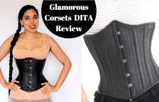 "c28355420a0 Glamorous Corset ""Dita"" Leather Underbust Review"