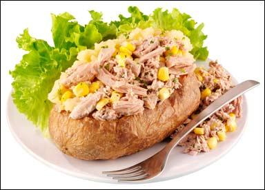 a tuna potato in a hotel in Wales (2/2)