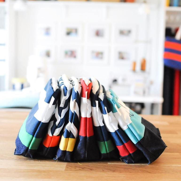 Waterproof zipper pouch by Lucy Jane with monogram