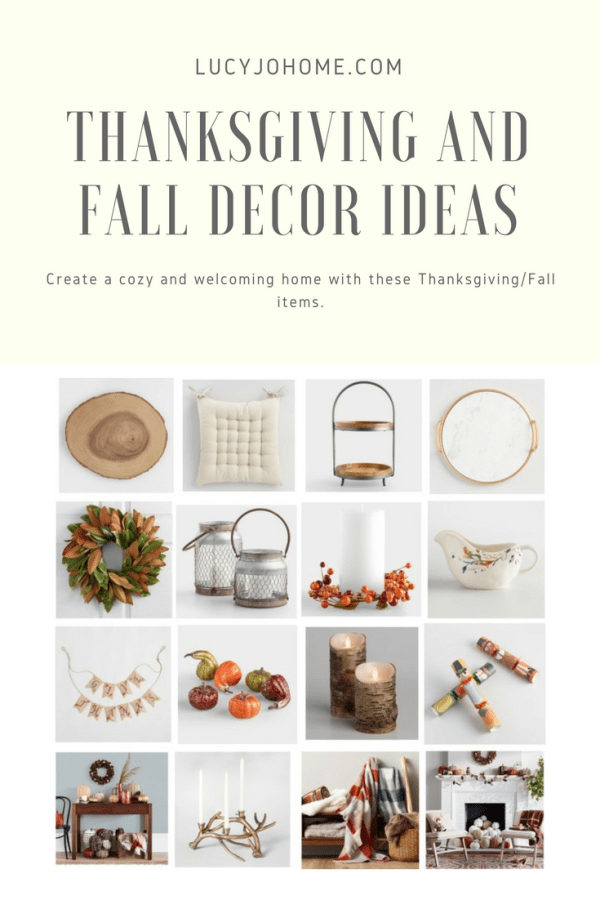 Thanksgiving and Fall Decor Ideas