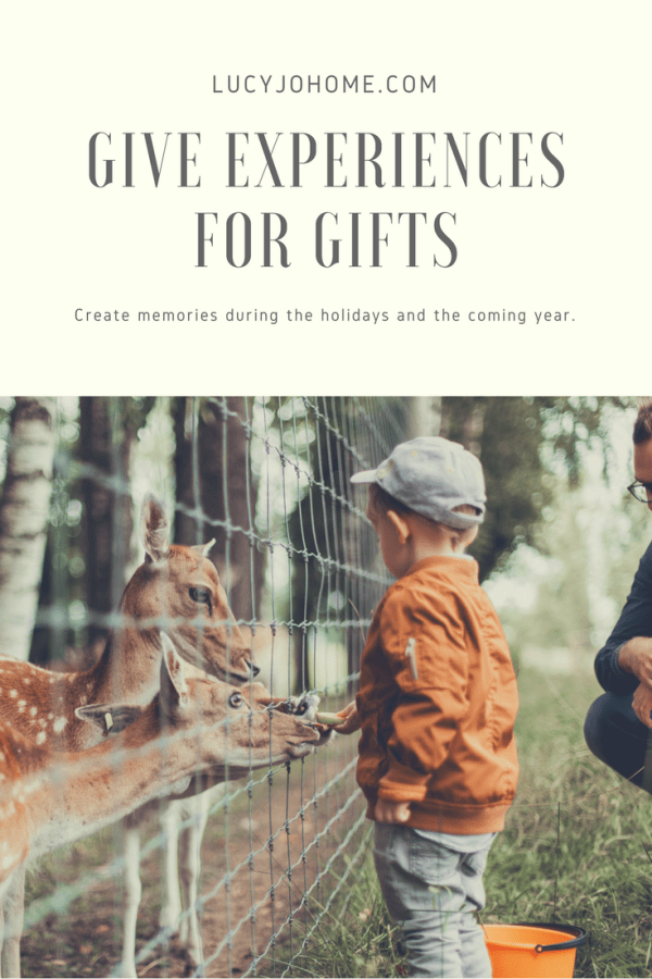 Ideas for Giving Experiences for Gifts