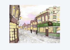 High Town in Luton - christmas card design