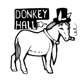 donkey tophat vector